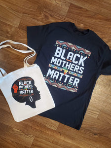 BLACK MOTHERS MATTER TEE WITH BAG