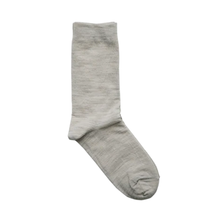 Nishiguchi + Hakne // Silk Wool Double-faced Socks // Oatmeal