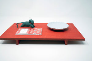 no24 tray // red