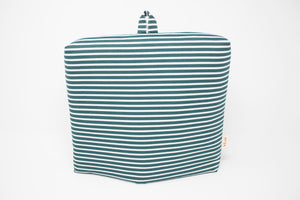 no24 tea cozy // green & white striped