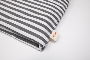 no24 coffe cozy // black & white striped