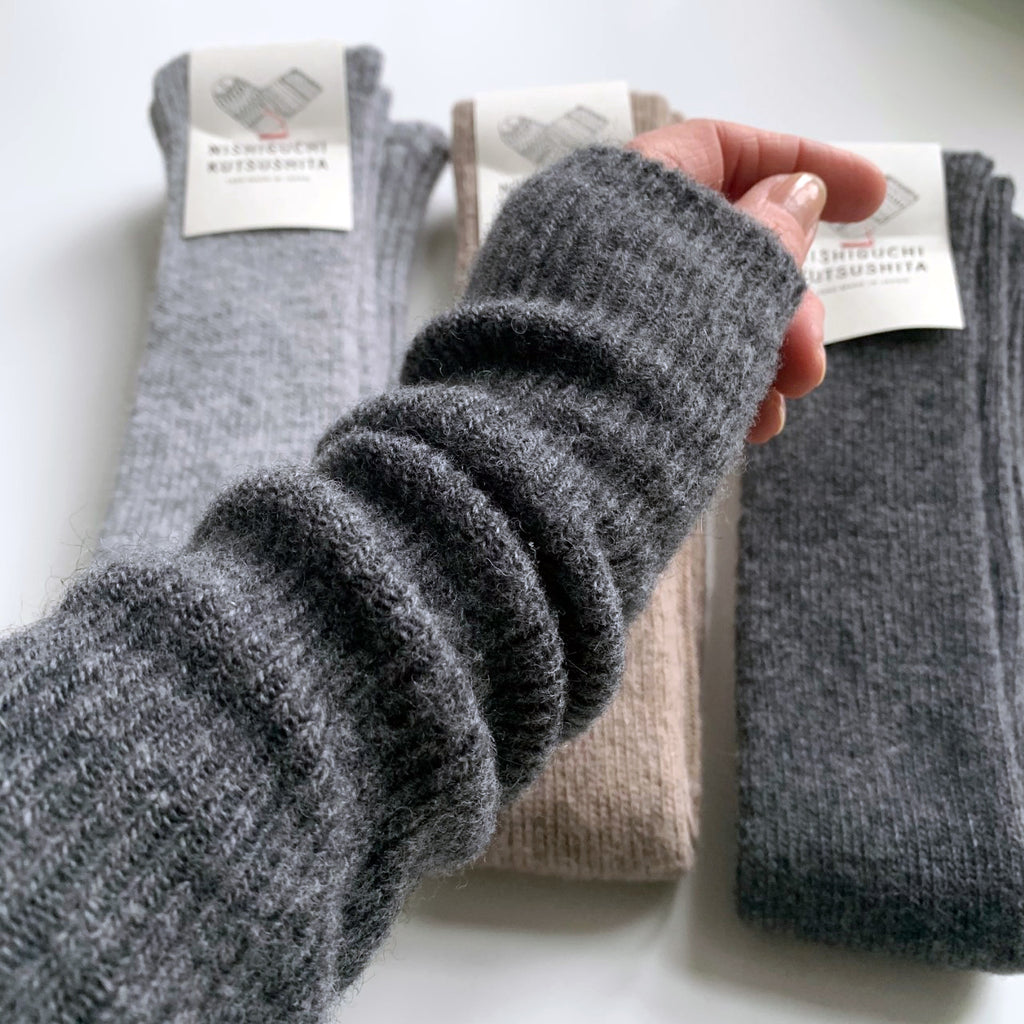 Nishiguchi // Alpaca Wool Arm & Leg Warmer // Charcoal