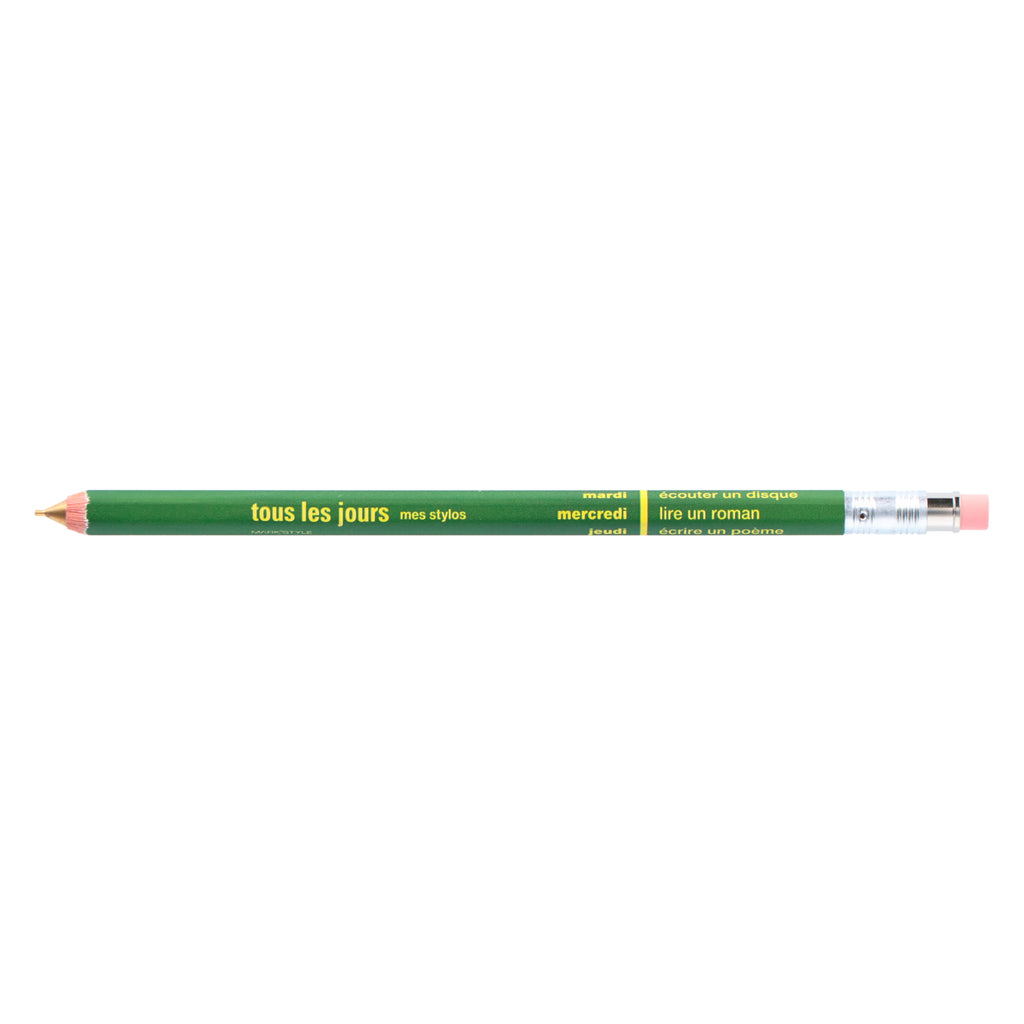 DAY Mechanical Pencil with Eraser / Olive Green