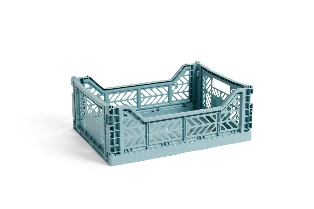 HAY Folding Crate Medi // Teal