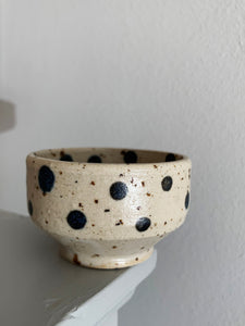 Blacksmith Ceramics // Sake bowl // Black Dotted