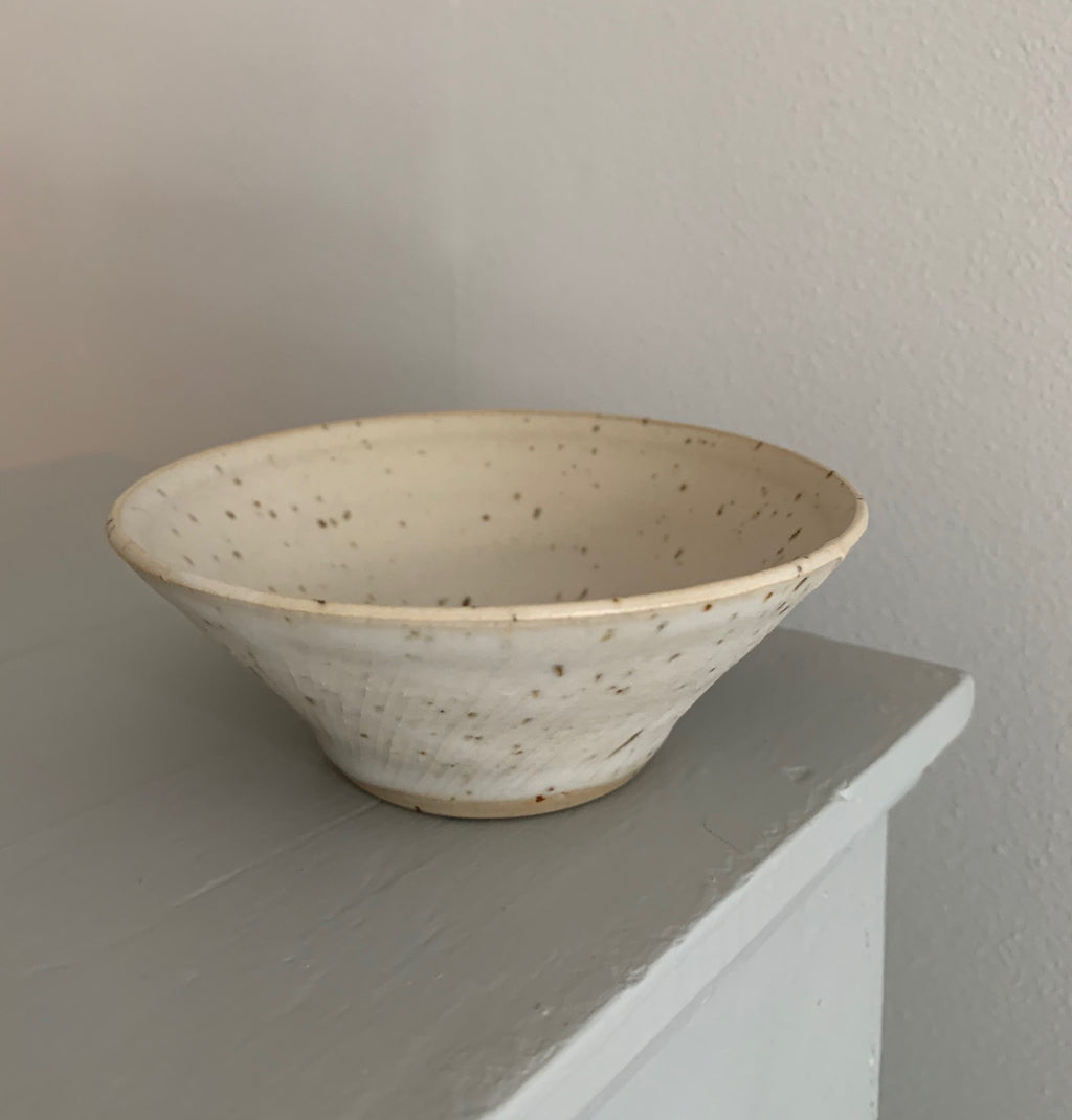 Blacksmith Ceramics // Cone Bowl // White