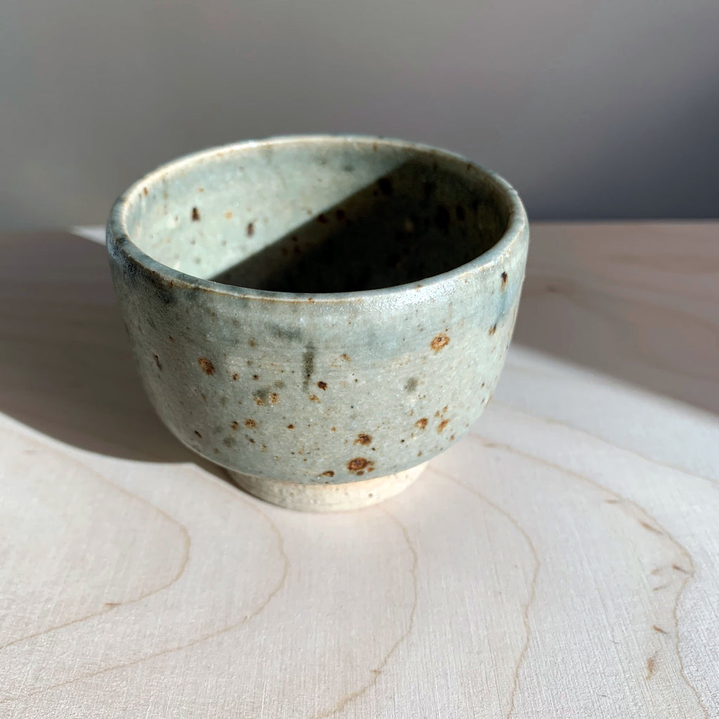 Blacksmith Ceramics // Sake bowl // Greenish