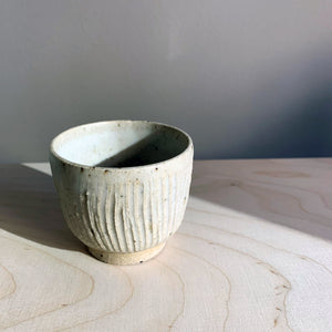 Blacksmith Ceramics // Sake bowl // White