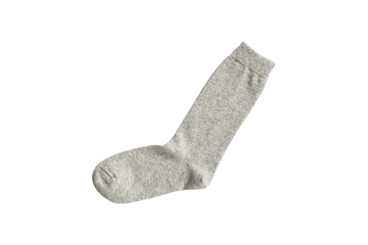 Nishiguchi // Praha Cashmere Wool Socks // Light Gray