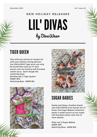 DivaWear December 2020 new releases blog post