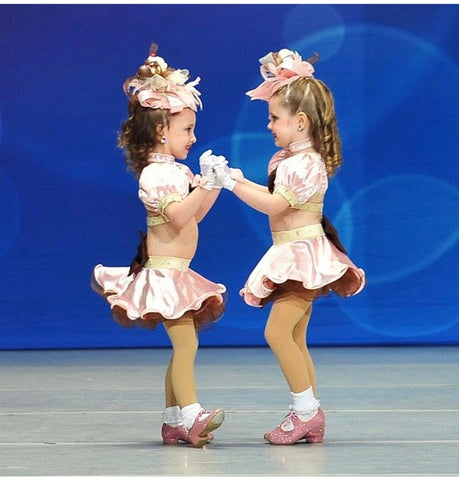 Mini Dancers Custom Costumes by DivaWear Pink Satin