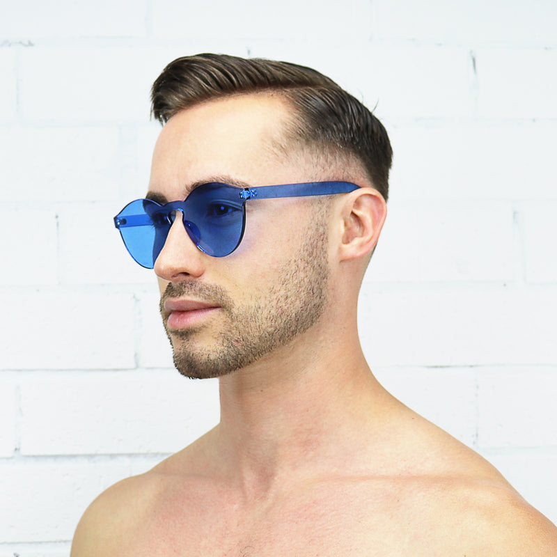 Blue Jelly Sunglasses - Rude Rainbow Gay Party Summer