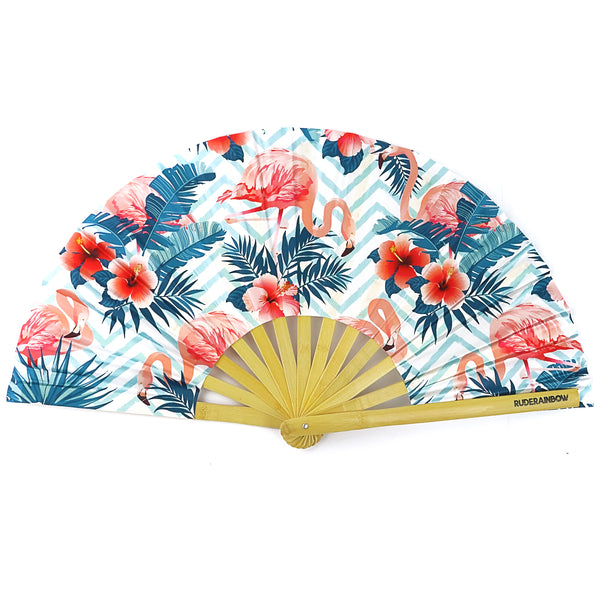 Flaming Flamingos Party Fan