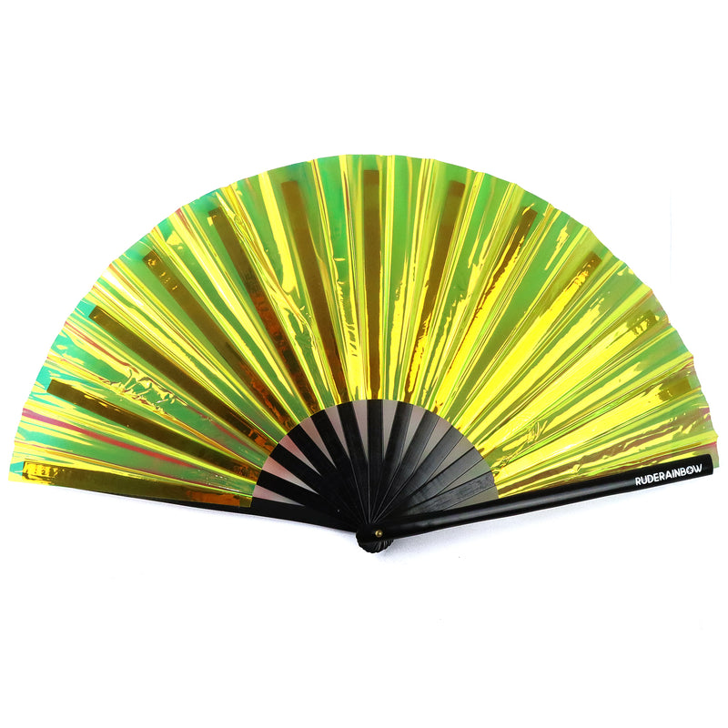 Reflective Party Fan - Gold