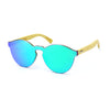 Bamboo Reflective Sunglasses - Green