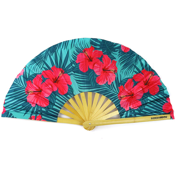 Happy Hibiscus Party Fan