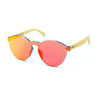 Bamboo Reflective Sunglasses - Orange
