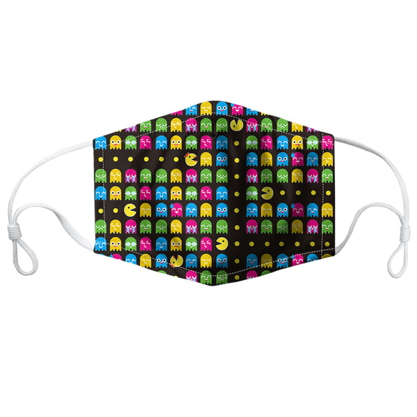 Pacman Ghostbuster Reusable PM2.5 Face Mask - Rude Rainbow Gay Party Summer