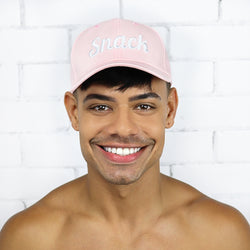 Pastel Pink Snack Cap - Rude Rainbow Gay Party Summer