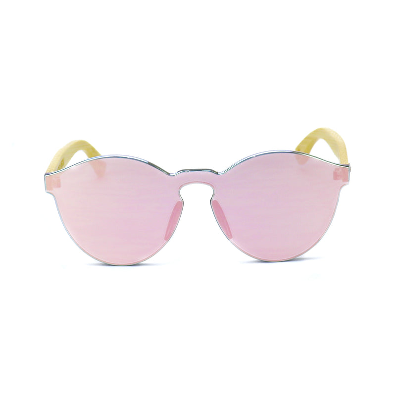 Pink Bamboo Reflective Sunglasses - Rude Rainbow Gay Party Summer