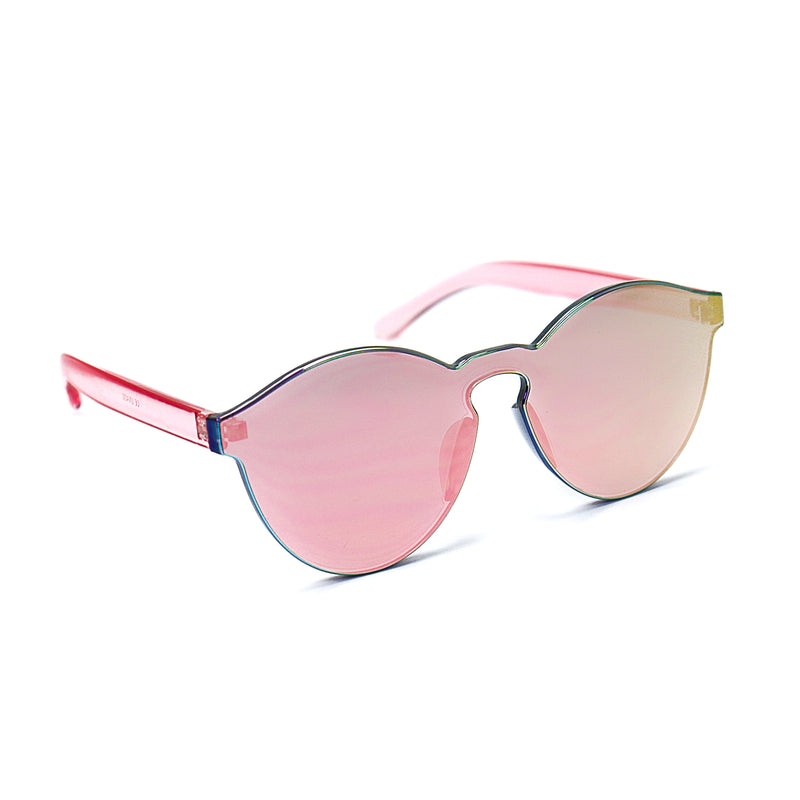 Pink Reflective Jelly Sunglasses - Rude Rainbow Gay Party Summer