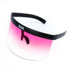 Visor - Pink Transparent - Black Frames