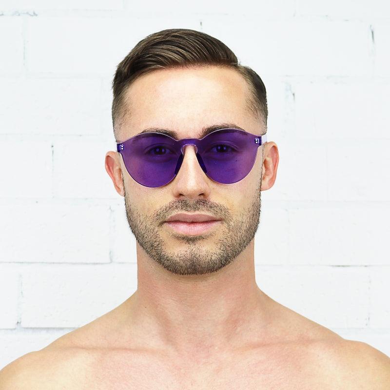 Purple Jelly Sunglasses - Rude Rainbow Gay Party Summer