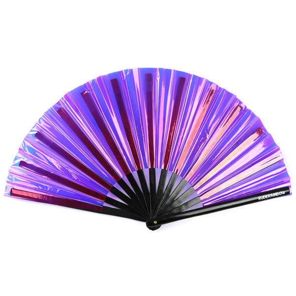 Reflective Party Fan - Purple