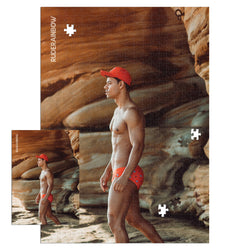 Pablo Rocks Red Jigsaw Puzzle - Rude Rainbow Gay Party Summer