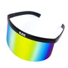 Visor - Gold Rainbow Mirror - Black Frames