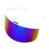 Visor - Rainbow Mirror - White Frames
