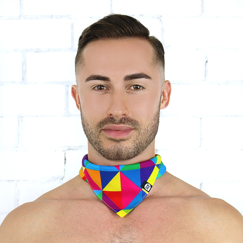 Rainbow Bandana - Rude Rainbow Gay Party Summer