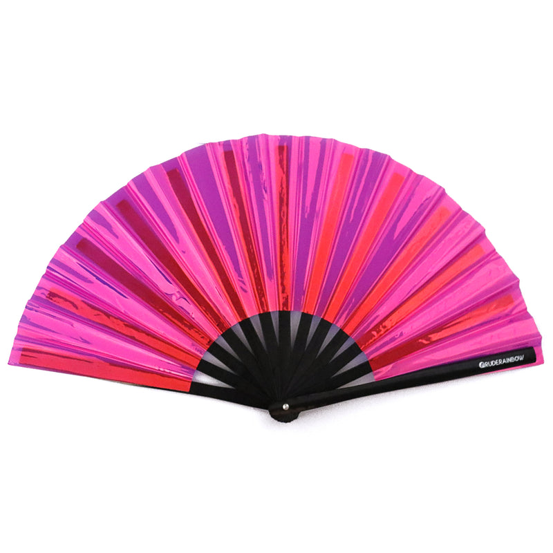 Reflective Pink Party Fan - Rude Rainbow Gay Party Summer