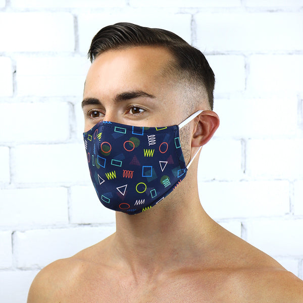 80'S Retro Reusable PM2.5 Face Mask - Rude Rainbow Gay Party Summer