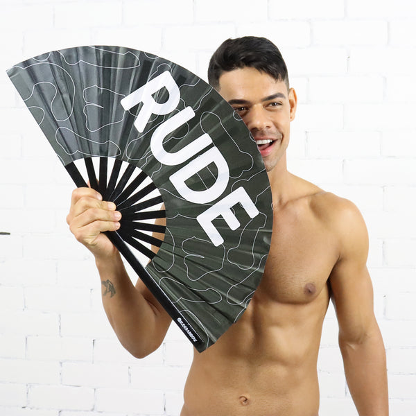 Raging Rude - Black UV Party Fan