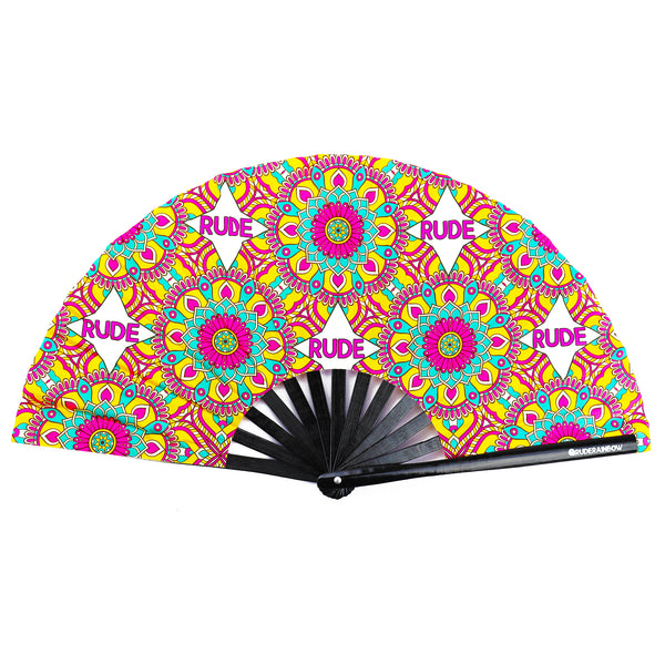 Rude Paisley UV Party Fan - Rude Rainbow Gay Party Summer
