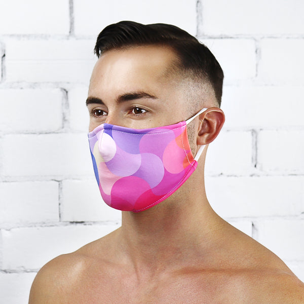 Pastel Rainbow Reusable PM2.5 Face Mask - Rude Rainbow Gay Party Summer