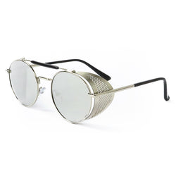 Steampunk Metal Glasses - Silver
