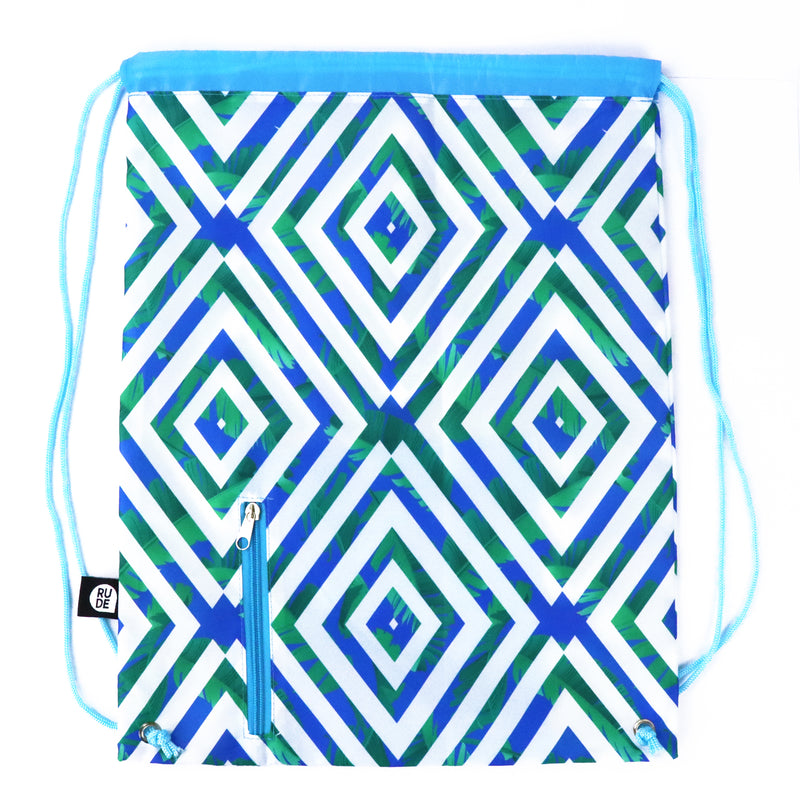 Tropical Ocean Drawstring Bag