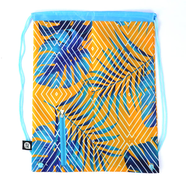 Tropical Sunset Drawstring Bag