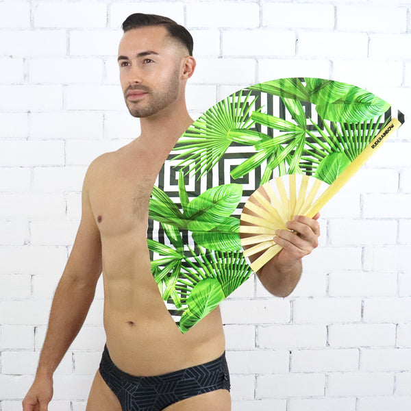 Tropical Hypno UV Party Fan