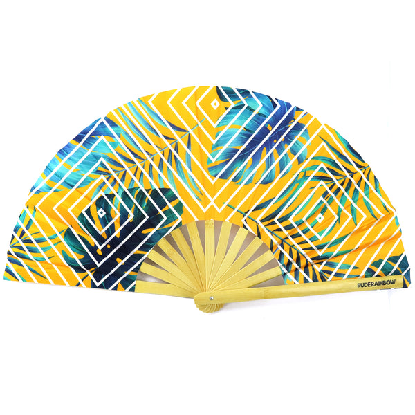 Tropical Sunset UV Party Fan