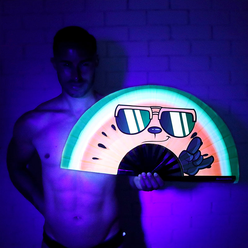 Cheeky Watermelon UV Party Fan - Rude Rainbow Gay Party Summer