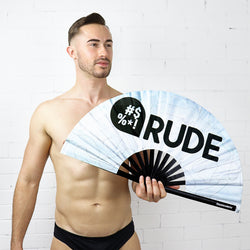 White Willy UV Party Fan - Rude Rainbow Gay Party Summer