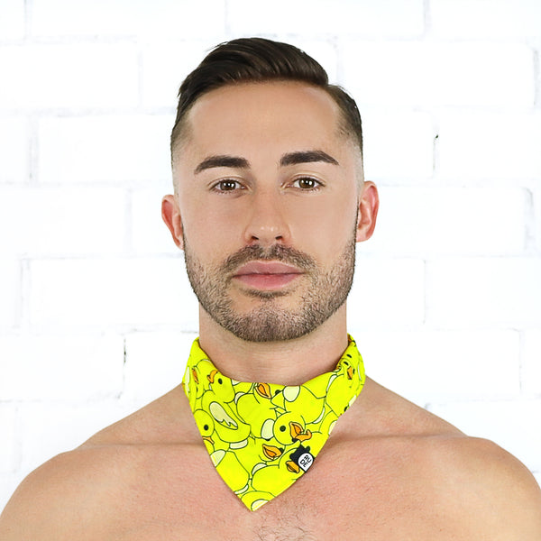 Sea of Rubber Ducks Bandana - Rude Rainbow Gay Party Summer