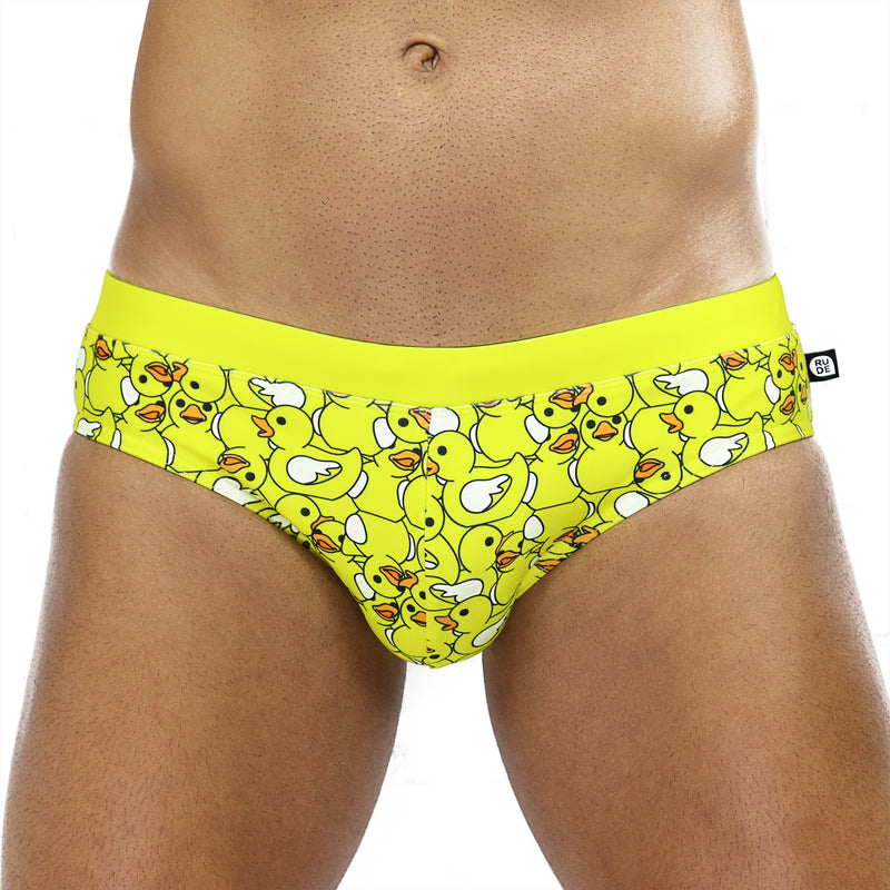 Sea of Rubber Ducks Swim Brief - Rude Rainbow Gay Party Summer
