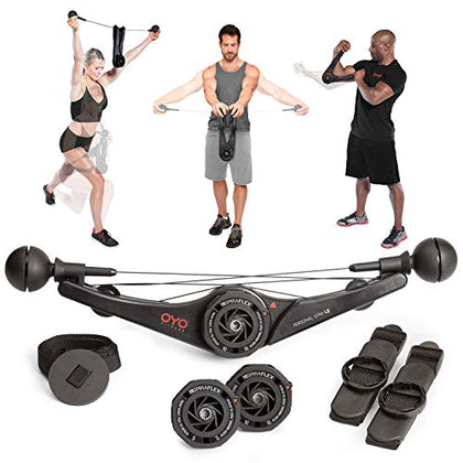 OYO Personal Gym - Full Body Portable Gym Equipment Set for Exercise at Home, Office or Travel - SpiraFlex Strength Training Fitness Technology - NASA Technology