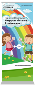 Keep Your Distance Pull-up Banner - Kids Range