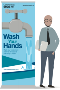 Wash Your Hands Pull-up Banner - Kids Range
