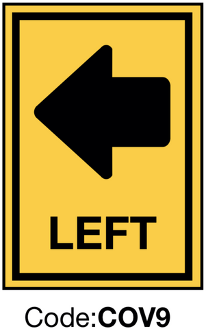 Left Directional Sign
